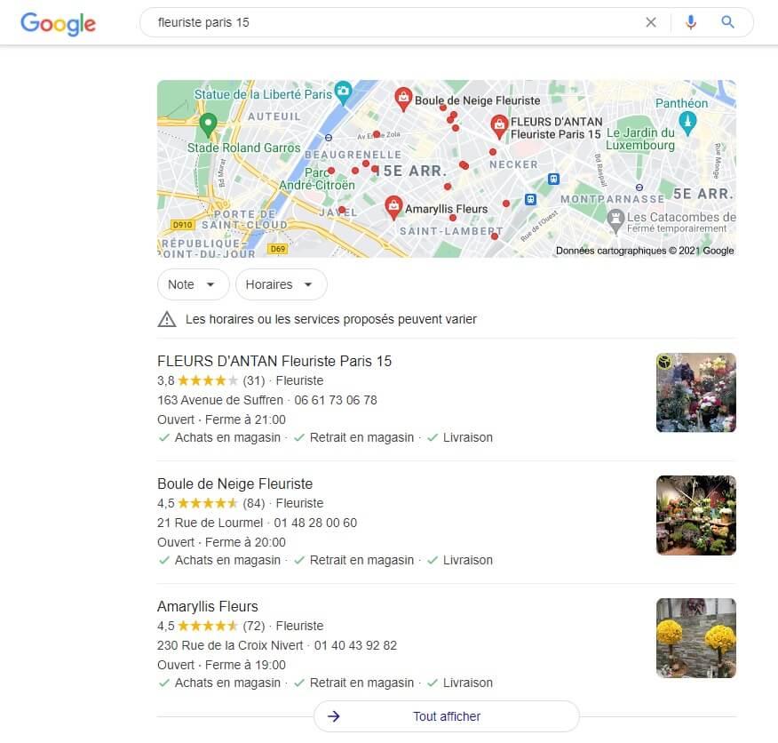 Pack local de Google